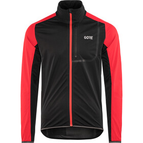 GORE WEAR C3 Gore Windstopper Giacca Uomo, black/red